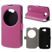 Trend puzdro s okienkom na mobil LG K4 - rose
