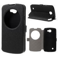 Trend pouzdro s okýnkem na mobil LG K4 - černé
