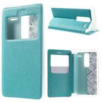 Cross peňaženkové puzdro s okienkom na LG Zero - modré