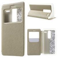 Cross peňaženkové puzdro s okienkom na LG Zero - zlaté