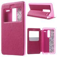 Cross peňaženkové puzdro s okienkom na LG Zero - rose