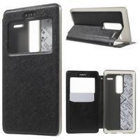 Cross peňaženkové puzdro s okienkom na LG Zero - čierne