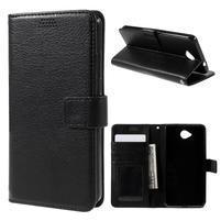 Funny peňaženkové puzdro na mobil Microsoft Lumia 650 - čierné