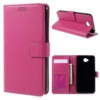 Funny peňaženkové puzdro na mobil Microsoft Lumia 650 - rose