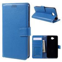 Funny peňaženkové puzdro na mobil Microsoft Lumia 650 - modré
