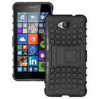 Outdoor odolný obal pre mobil Microsoft Lumia 650 - čierný