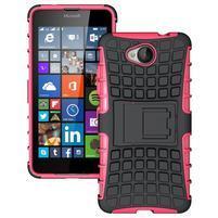 Outdoor odolný obal pre mobil Microsoft Lumia 650 - rose