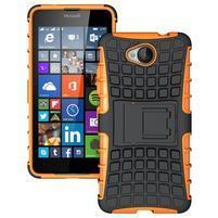 Outdoor odolný obal pre mobil Microsoft Lumia 650 - oranžový