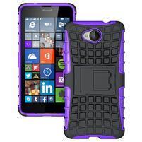 Outdoor odolný obal na mobil Microsoft Lumia 650 - fialový