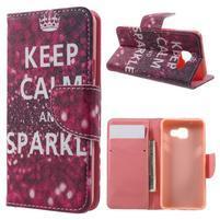 Peňaženkové puzdro na mobil Samsung Galaxy A3 (2016) - keep calm