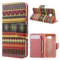 Peňaženkové puzdro pre mobil Samsung Galaxy A3 (2016) - tribal