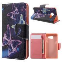 Peňaženkové puzdro na mobil Samsung Galaxy A3 (2016) - kouzelní motýlci