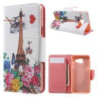 Peňaženkové puzdro pre mobil Samsung Galaxy A3 (2016) - Eiffelova veža