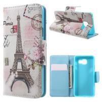 Peňaženkové puzdro pre mobil Samsung Galaxy A3 (2016) - Eiffelovka
