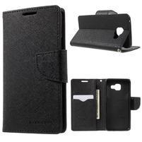 Goospery peňaženkové puzdro na Samsung Galaxy A3 (2016) - čierné