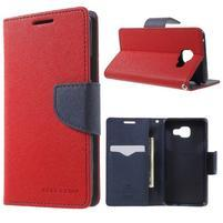 Goospery peňaženkové puzdro pre Samsung Galaxy A3 (2016) - červené