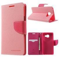 Goospery peňaženkové puzdro pre Samsung Galaxy A3 (2016) - ružové