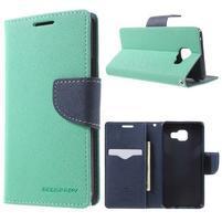 Goospery peňaženkové puzdro pre Samsung Galaxy A3 (2016) - cyan