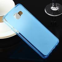 Matný gélový obal pre Samsung Galaxy A3 (2016) - modrý