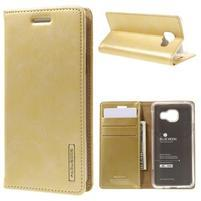 Mercury peňaženkové puzdro na Samsung Galaxy A3 (2016) - zlaté