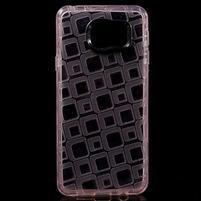 Square gélový obal na mobil Samsung Galaxy A3 (2016) - růžový
