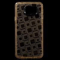Square gélový obal pre mobil Samsung Galaxy A3 (2016) - zlatý