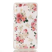 Gélový obal na mobil Lenovo A536 - květiny