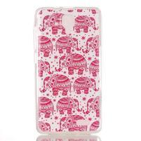 Gélový obal na mobil Lenovo A536 - růžoví sloni