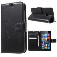 Butterfly peňaženkové puzdro na Microsoft Lumia 535 - čierné