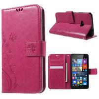 Butterfly peňaženkové puzdro na Microsoft Lumia 535 - rose