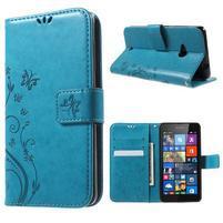 Butterfly peňaženkové puzdro na Microsoft Lumia 535 - modré
