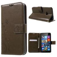 Butterfly peňaženkové puzdro na Microsoft Lumia 535 - coffee