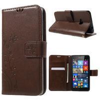 Butterfly peňaženkové puzdro na Microsoft Lumia 535 - hnedé