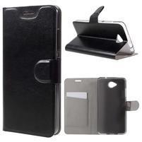 Horse peňaženkové puzdro na mobil Microsoft Lumia 650 - čierné