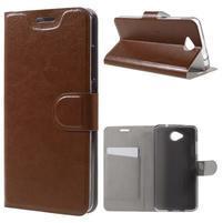 Horse peňaženkové puzdro pre mobil Microsoft Lumia 650 - hnedé