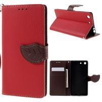 Blade Peňaženkové puzdro pre Sony Xperia M5 - červené