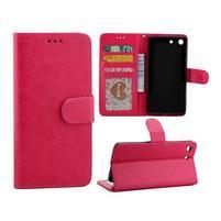Horse PU kožené puzdro pre Sony Xperia M5 - rose