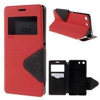 Diary puzdro s okienkom na Sony Xperia M5 - červené