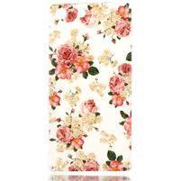 Style gélový obal pre Sony Xperia M5 - kvetinová koláž