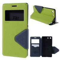 Diary puzdro s okienkom na Sony Xperia M5 - zelené
