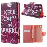 Stand Peňaženkové puzdro pre Sony Xperia M5 - Keep Calm