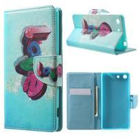 Stand Peňaženkové puzdro pre Sony Xperia M5 - love