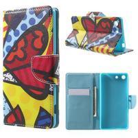Stand Peňaženkové puzdro pre Sony Xperia M5 - abstract