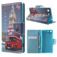 Stand Peňaženkové puzdro pre Sony Xperia M5 - Big Ben