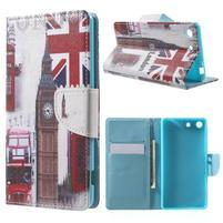 Stand Peňaženkové puzdro pre Sony Xperia M5 - UK Big Ben
