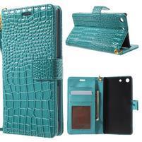 Croco Peňaženkové puzdro pre mobil Sony Xperia M5 - modré
