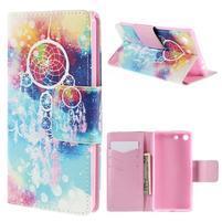 Crafty Peňaženkové puzdro pre Sony Xperia M5 - lapač snov