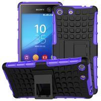 Outdoor odolný kryt pre mobil Sony Xperia M5 - fialový
