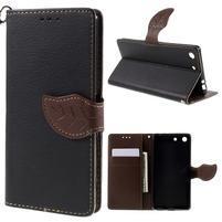 Blade Peňaženkové puzdro pre Sony Xperia M5 - čierne