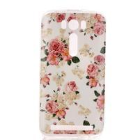 Softy gélový obal pre mobil Asus Zenfone 2 Laser - kvetiny